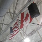 picture of the Canadian and United States of American flags