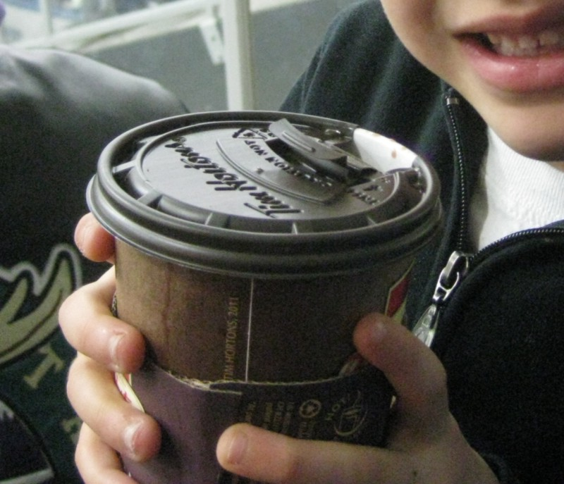 picture of someone holding a cup of hot chocolate
