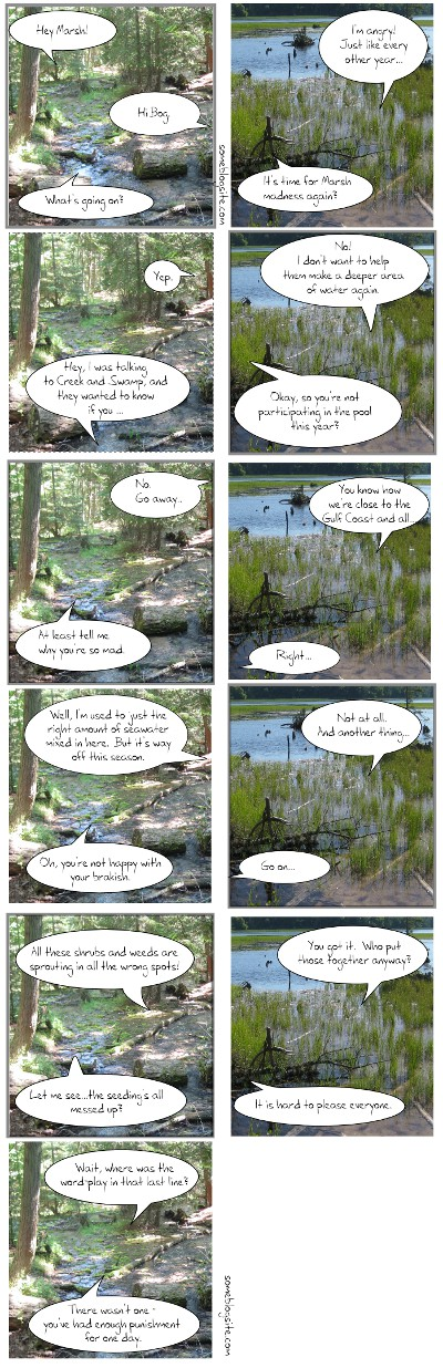 comic of bog and marsh discussing NCAA basketball tournament terms