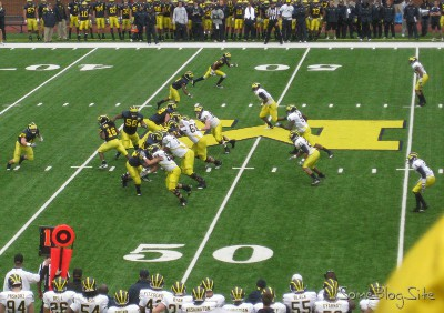 picture of the Michigan football spring game