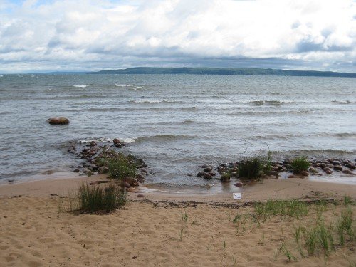 view of Canada from Brimley, MI