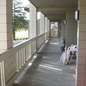 picture of the balcony of the Duneside Apartments at Maranatha