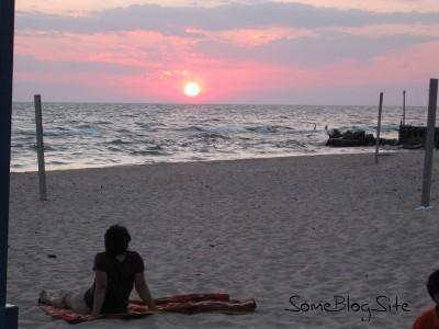 picture of a sunset at the Lake Michigan beach at Maranatha