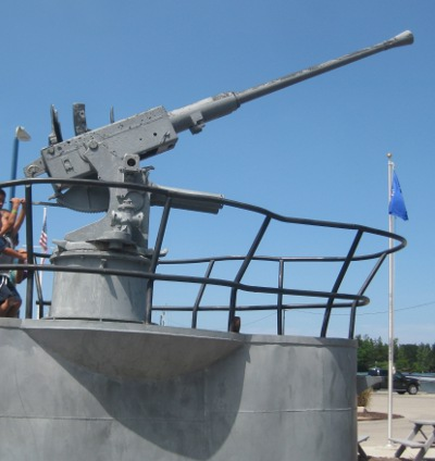 photo of gun boat playground outside the USS Silversides museum