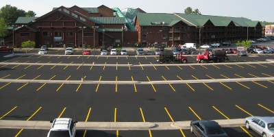 picture of a parking lot at the Wilderness Resort