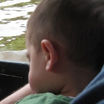 picture of a child sleeping while on the original Wisconsin ducks tour