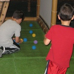 picture of children playing with foam balls at the Wilderness Resort