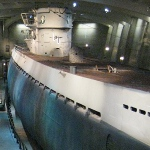 picture of the U-505 inside the Chicago Museum of Science and Industry