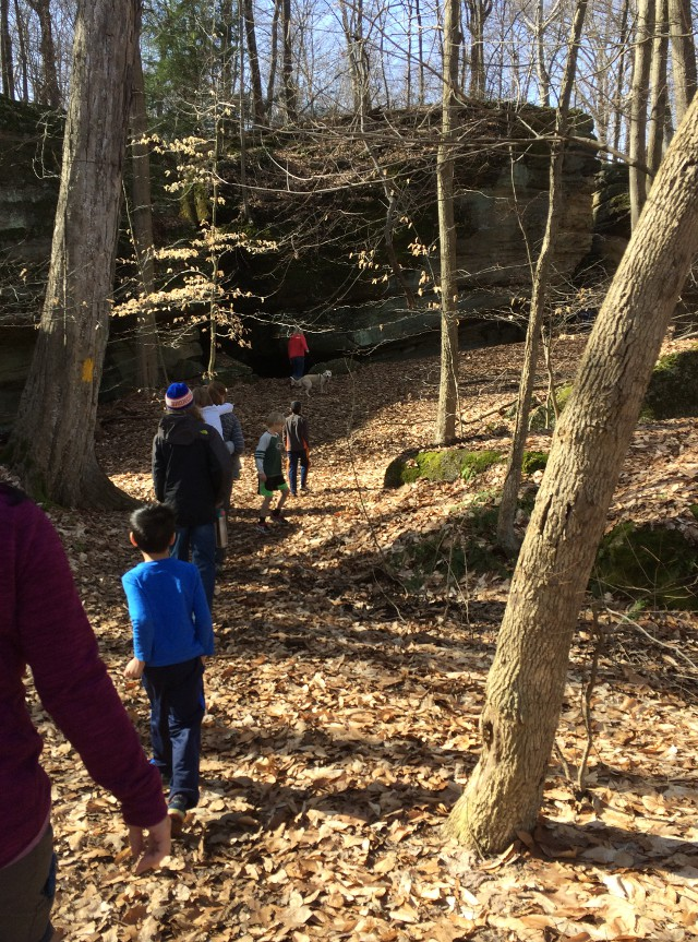 image of a walk through Nelson Ledges State Park