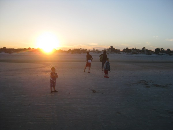 photo of on the beach in St. Augustine, FL at sunset