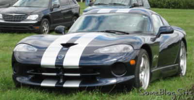 picture of Dodge Viper parked in grass