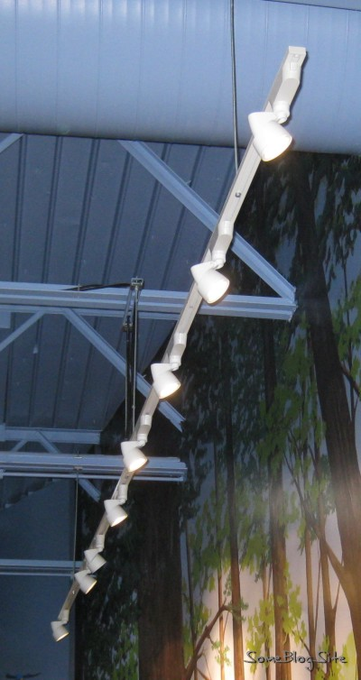 Close-up shot of 8-bulb light bar
